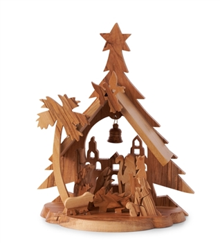Wooden Grotto Christmas Grotto Olive Wood Carved
