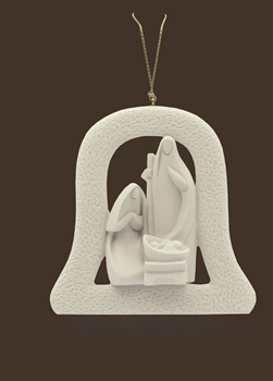 736944 - Nativity Ornament in Bell - 3.5""