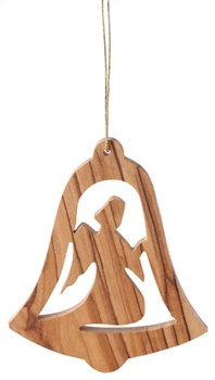 hand crafted olive wood christmas ornament made in bethlehem