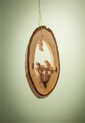 Earthwood BK-20E Olive Wood Ornament with Flight to Egypt