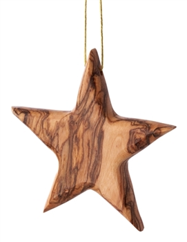 C25 - Thick Star Ornament - 3.25""