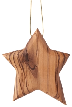 C26S - Thick star ornament solid - modern - 3.5""