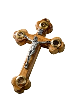 CC08 - Orthodox Crucifix with glass windows - 5""
