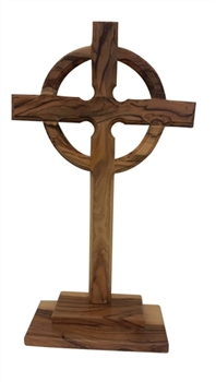 CC18LB - Large Celtic Cross with stand - 8.5""