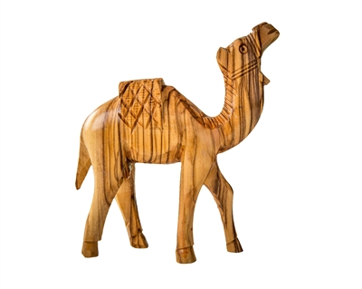 CM08 - Walking camel with wooden blanket - 6""