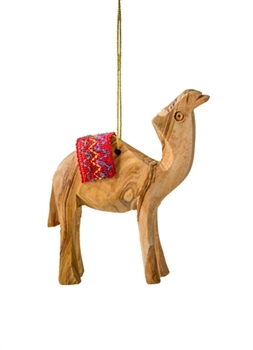 CM09R - Camel ornament with red blanket - 3""