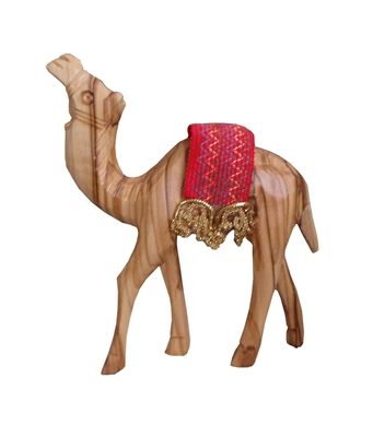 hand-crafted olive wood Camel made in Bethlehem