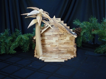 "CR12B - Medium Stable with 3D Palm Tree - 13""x13"""