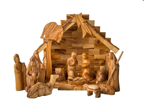Wooden Hand Carved Nativity Sets ~ The finest olive wood christmas ornaments nativities and