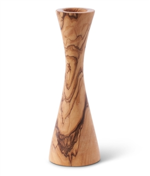 hand-carved olive wood candle holder made in Bethlehem