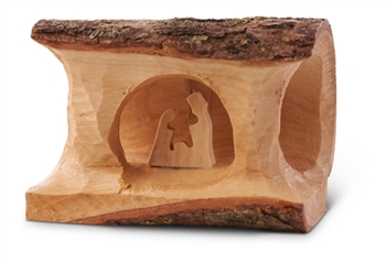 "E05T - Mini Log Nativity - 2""x 3"""