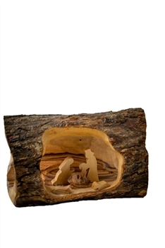"E05sb - Small Log Nativity - 3""x5"""