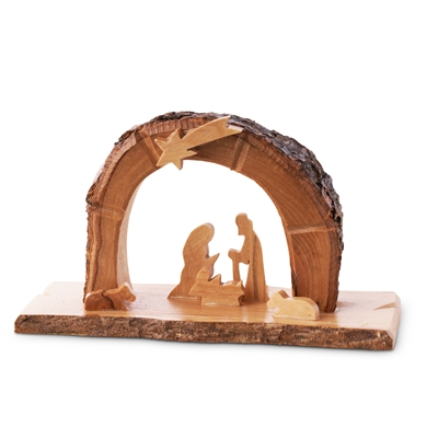 "E08 - Arched grotto with holy family under star - 3""x4.5"""