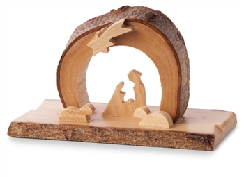 E08S - Arched Grotto with Family under Star - mini - 2 x 3.5""