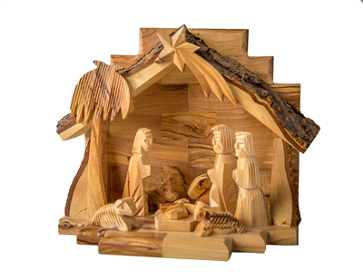 "E22 - Grotto with Carved figures - 6""X7"""