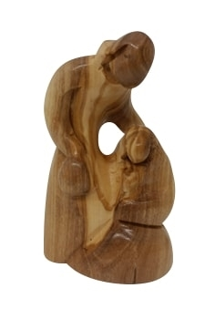 HF19 - Holy family - Joseph leaning over Mary - 3.5""