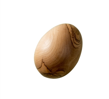 hand-crafted olive wood egg made in Bethlehem