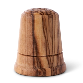 hand-crafted olive wood thimble made in Bethlehem