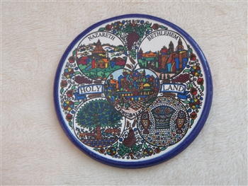 MS52 - Ceramic Christmas Ornament, Coaster or Spoon Rest - Holy Land - 3.5""