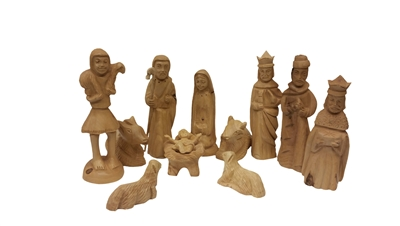 NS10 - 12 Piece Nativity Set with Persian Kings - 8""