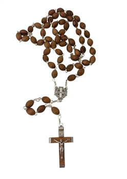 hand-crafted olive wood rosary made in Bethlehem