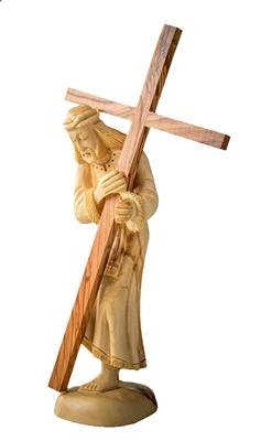 hand-crafted olive wood figurine made in Bethlehem