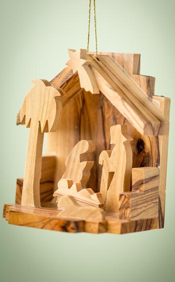 grottos - Wooden Nativity Set